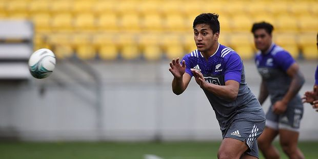 Rieko Ioane during an All Blacks training session. Photo / Getty Images