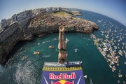 Red Bull cliff diving event in Italy. Photo / Getty