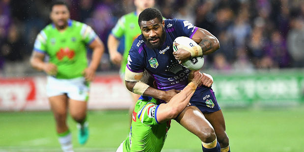 Marika Koroibete playing for the Melbourne Storm in 2016. Photo / Getty Images