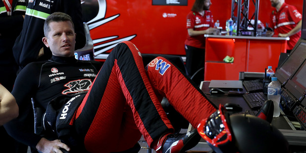 Garth Tander prepares for the Top Ten Shootout for the Bathurst 1000. Photo / Getty Images
