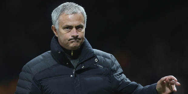 Manchester United manager Jose Mourinho returned to his former club this morning, but came away with an embarrassing defeat. Photo / Getty