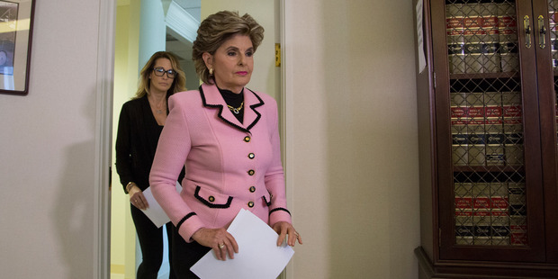 Attorney Gloria Allred (R) and Jessica Drake arrive to a press conference to accuse Republican presidential candidate Donald Trump of previous inappropriate sexual conduct. Photo  / Getty