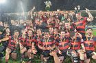 Canterbury pose with the trophy. Photo / Getty