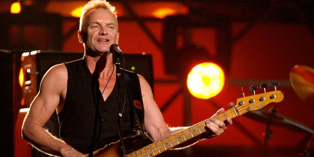 "Musician Sting performs ""Roxanne"" onstage with the band The Police opening the 49th Annual Grammy Awards at the Staples Center on February 11, 2007. Photo / Getty"