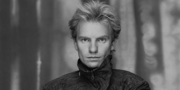 British actor and singer Sting poses with his arms folded across his chest, circa 1985. Photo / Getty