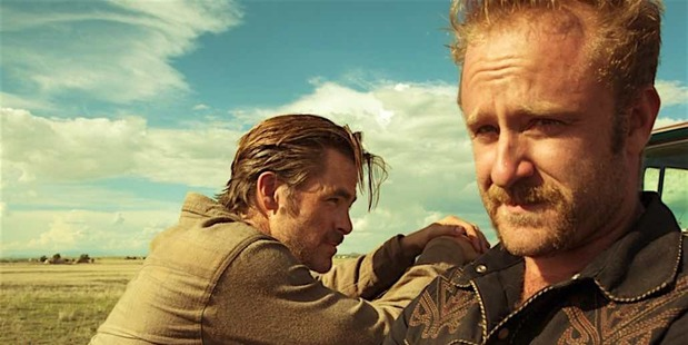 Loading Scene from the film Hell or High Water starring Chris Pine as Toby and Ben Foster as Tanner. Photo / CBS Films