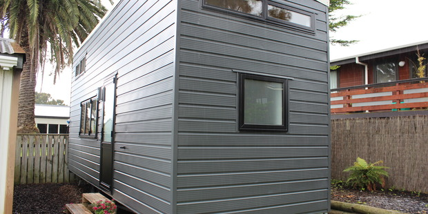 OUR HOUSE: A tiny house built by Vannesa and Jessica Ortiz.