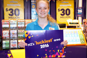 Jessica Veluta, Lotto Assistant at Countdown Manukau City Mall, reckons they are pretty lucky. Photo / Supplied
