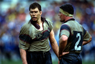 Graham Dowd and Ron Williams in action for North Harbour during the rugby union NPC, 1992. Photo / Photosport