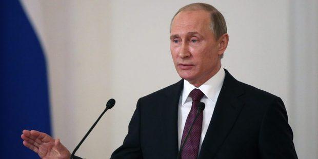 Loading Russian President Vladimir Putin.