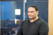 Darrell Dunn at the Auckland High Court last month. He was found guilty of the manslaughter of Teina Wharawhara. Photo / Michael Craig