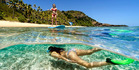 Mantaray Island Resort, Fiji, is a great spot for family activities in the water.