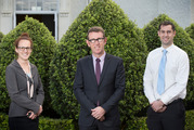 Mt Albert Grammar headmaster Patrick Drumm (centre) says teachers Jenny Bates (left) and Steve Sharp are leaving MAGS because Auckland house prices are so expensive. Photo / Nick Reed