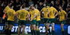The real question, perhaps, was: Would the Wallabies front? Photo / Dean Purcell