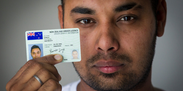 Loading Ravinder Singh was told he had passed his driver's test, then issued a driver's licence only to be told later he had in fact failed. Photo / Jason Oxenham