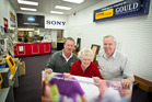 Greg (left), Chiria and Mark Gould closed the doors of Gould Photographics for the last time on Sunday.