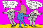 Wily bureaucrats are giving new Auckland mayor Phil Goff the run-around. Illustration / Peter Bromhead