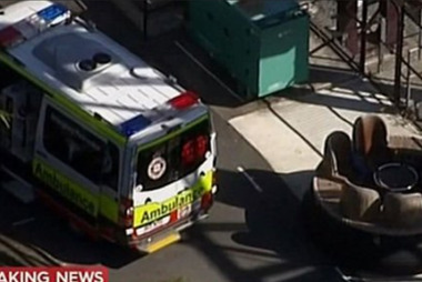 Still from Channel 9 News of the accident at Dreamworld. Photo / Channel 9