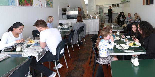 Dizengoff Cafe on Ponsonby Road. Photo / Doug Sherring