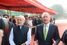 Prime Minister John Key in New Delhi with India's Prime Minister Narendra Modi. Photo / Pool