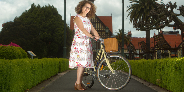 Loading SHOW: Frocks on Bikes Froctober Fashion Show organiser Natasja du Plessis says they hope it will encourage people to get on their bikes. PHOTO/BEN FRASER