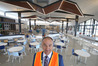 Papamoa Plaza manager David Hill standing in the new food court set to open today. Photo/John Borren.