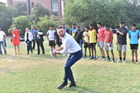 Brendon McCullum dropping off rugby gear at the Delhi Rebels Rugby Club. Photo / Supplied