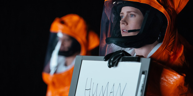 Amy Adams stars in the movie Arrival.