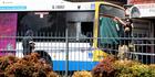 Bus explosion at Moorooka Brisbane. Photo / News Ltd