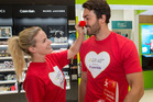 Cure Kids ambassadors Matilda Rice and Art Green get into the spirit of Red Nose Day. PHOTO/Peter Meecham