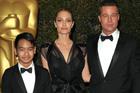 Maddox Jolie-Pitt, Angelina Jolie and Brad Pitt. Photo / AP