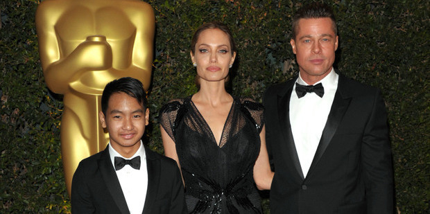 Loading Maddox Jolie-Pitt, Angelina Jolie and Brad Pitt. Photo / AP