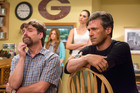 Zach Galifianakis, Isla Fisher, Gal Gadot and Jon Hamm in Keeping Up With The Joneses.