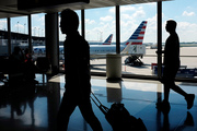 American Airlines planes wait to depart at O'Hare International Airport in Chicago. Photo / AP