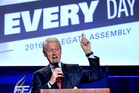 Former president Bill Clinton delivers remarks at the 2016 Florida Education Association Delegate Assembly in Orlando, Florida. Photo / AP