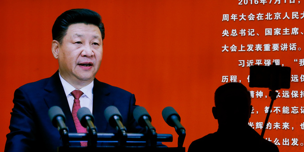 While Xi Jinping was the centre of attention at this week's plenum, he also featured in an exhibition on the Long March at the Military Museum in Beijing. Picture / AP