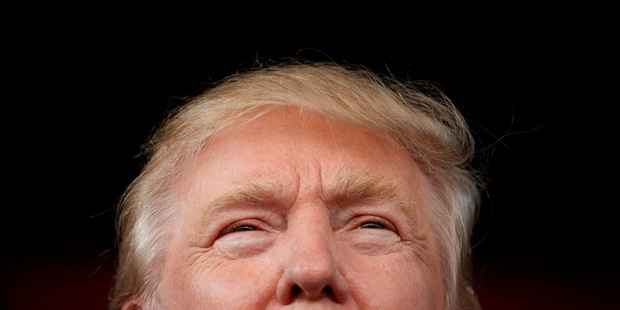 Donald Trump speaks during a campaign rally. Photo / AP