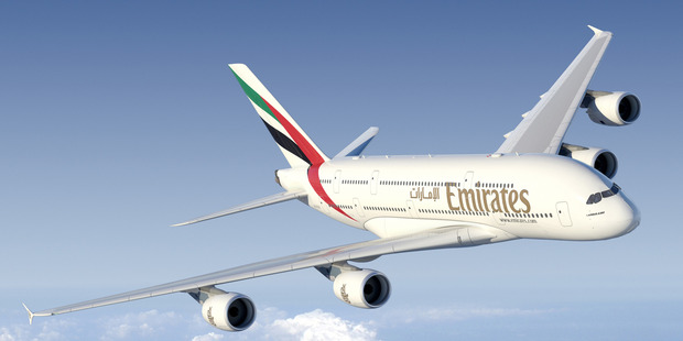 Emirates superjumbo services between Auckland and Dubai begin on October 31.