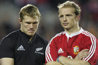 British & Irish Lions players Josh Lewsey and Matt Dawson after their loss to the All Blacks after the 3rd and final Test match, held at Eden Park in 2005. Photo / Brett Phibbs