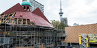 The Pop Up Globe theatre was dismantled in May after a successful, extended first season in Auckland. Photo / Michael Craig.