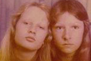 Tracey Ann Patient (left) and her sister Debbie Patient (now Sheppard). Photo / Supplied