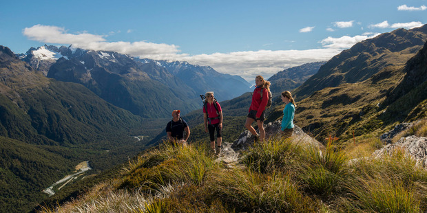 Ocean Peak Corner on the Grand Traverse Hike, on the Routeburn track. Photo / Supplied