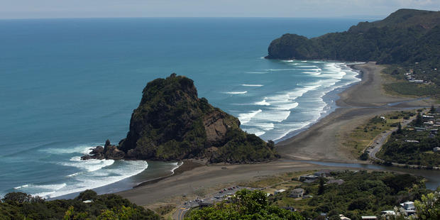 """The child who died in a """"tragic accident"""" at Piha on Saturday was found on rocks."""