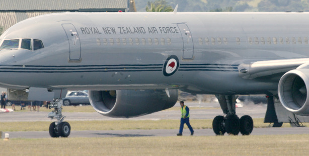 The second RNZAF Boeing was sent to replace the one grounded in Townsville. Photo / Doug Sherring