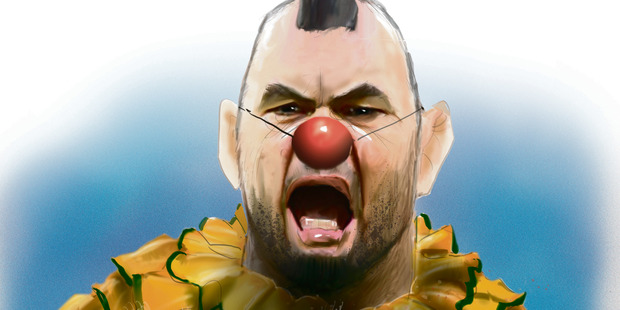 Loading The controversial cartoon of Australian rugby coach Michael Cheika. Image / Rod Emmerson