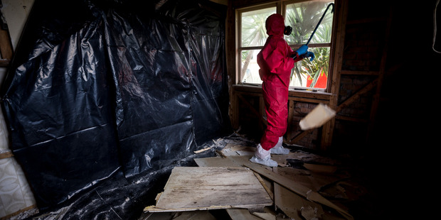 The Ministry of Health issued new guidelines this week on the cleaning up meth-contaminated houses. Photo / File