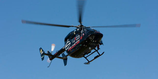 MISSION: The Hawke's Bay Rescue Helicopter team flew the woman to hospital. Photo/file