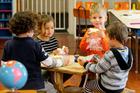 Children eating at Montessori 3-6 preschool centre  in Napier  earlier this year. Photo / Warren Buckland