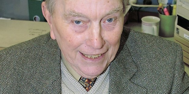 Tom Armstrong who died last month at age 94 is pictured in 2001 after being invested as an officer of The Order of the Hospital of St John of Jerusalem.
