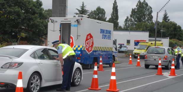 The Traffic Alcohol Group breath-testing drivers. Photo / File
